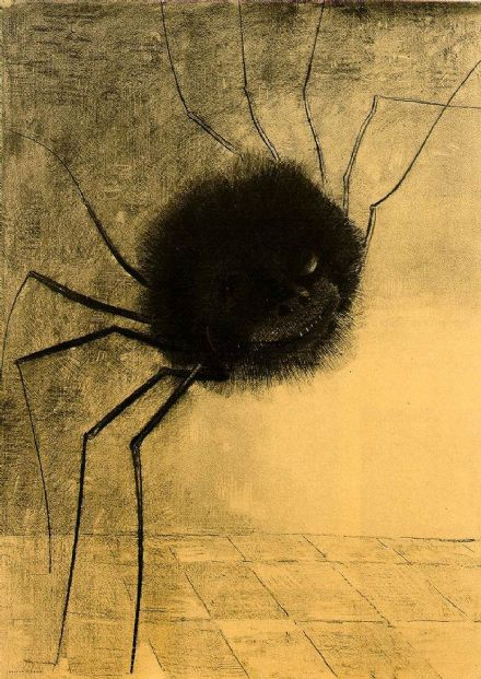 Redon, Odilon (Bertrand-Jean): The Smiling Spider. Fine Art Print/Poster. Sizes: A4/A3/A2/A1 (001738)